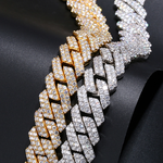 20MM Iced Out Prong Cuban Link Chain