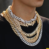 12MM Iced Out Barbed Wire Cuban Link Chain