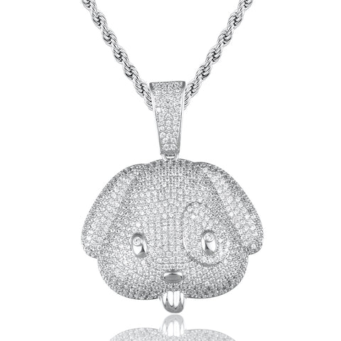 Iced Out Puppy Pendant