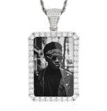 Custom Square Photo Medallion Necklace