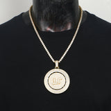 Custom Iced Out Rotating Pendant Necklace