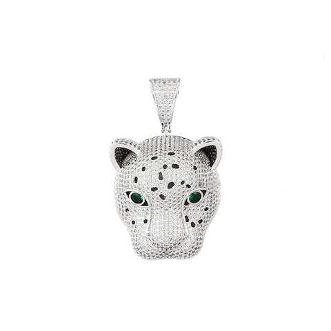 Iced Out Leopard Pendant