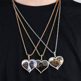 Custom Heart Photo Medallion Necklace
