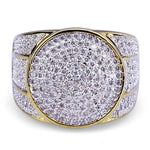 Clustered Diamond Band Ring