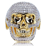 Iced Out Domineering Skull Ring