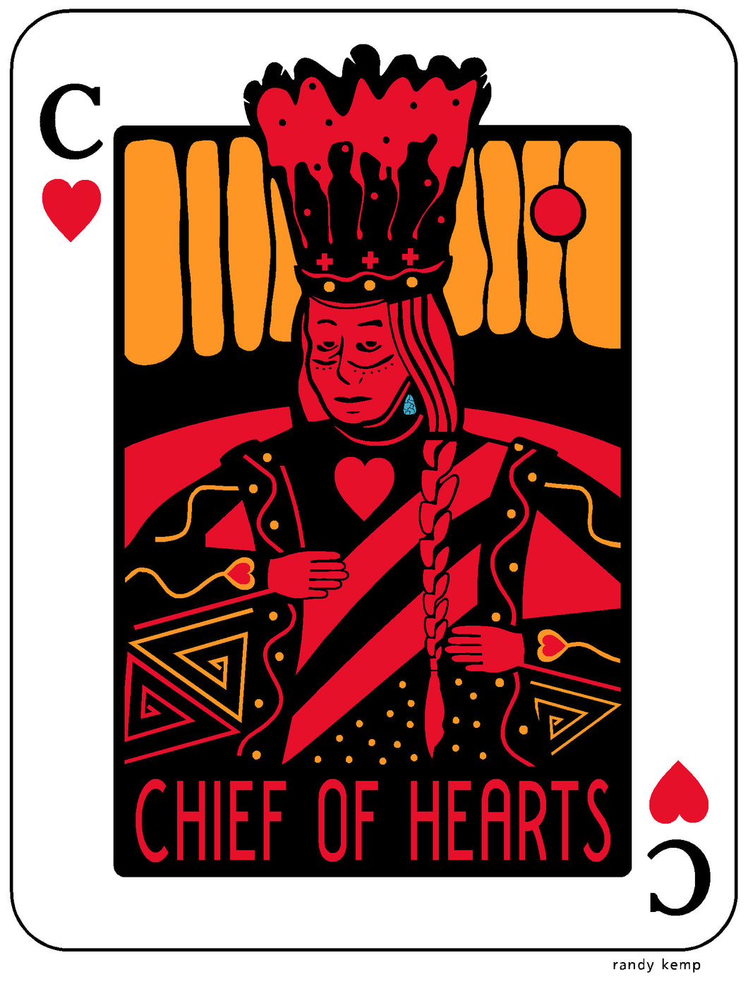 Chief of Hearts Sticker