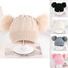 Load image into Gallery viewer, Kid Winter Pom-Pom Hat