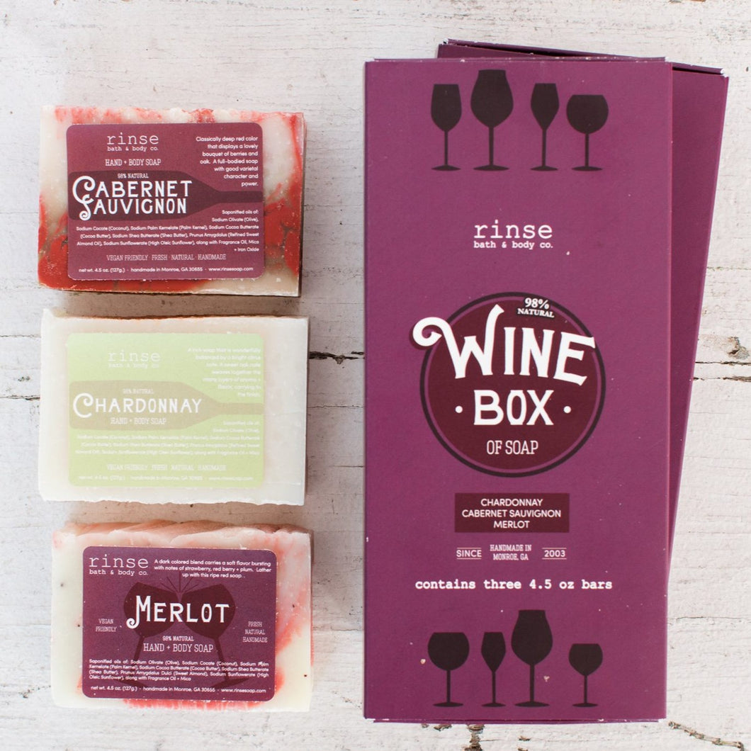 RINSE Soap Box - Wine Lover