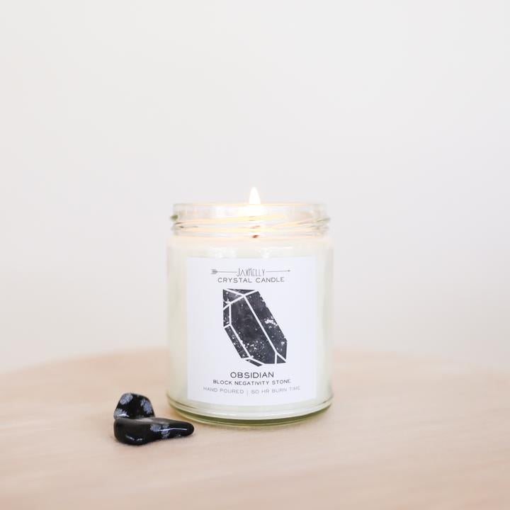 Jax Kelly Obsidian Crystal Candle