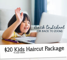 Load image into Gallery viewer, Kid's Fall Haircut Package