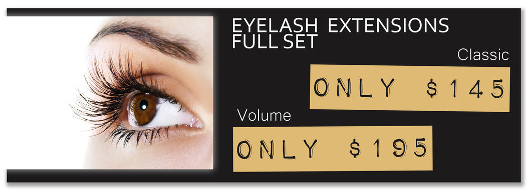 Eye Lash Extensions -Full Set