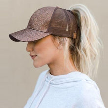 Load image into Gallery viewer, Ponytail Messy Bun Baseball Hat