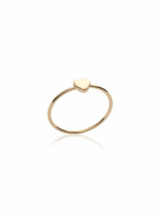 Amillis Gold Friendship Ring gold-plated fine ring with heart