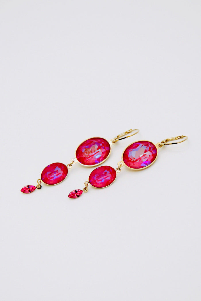 Delite Lotus Pink Earrings - Amillis