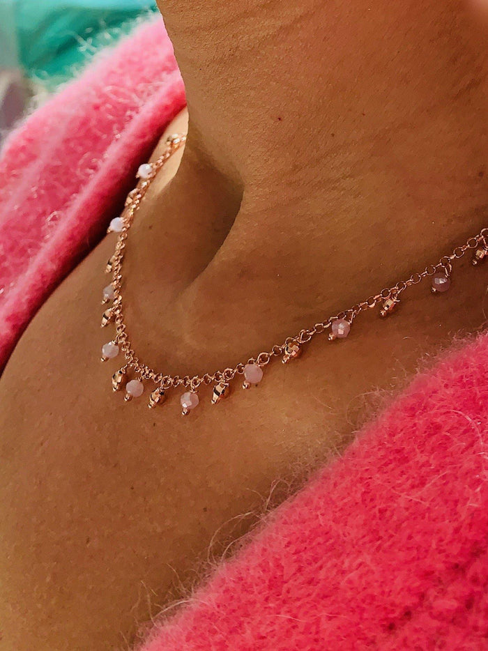 Ella Pink - Rosé Necklace - Amillis