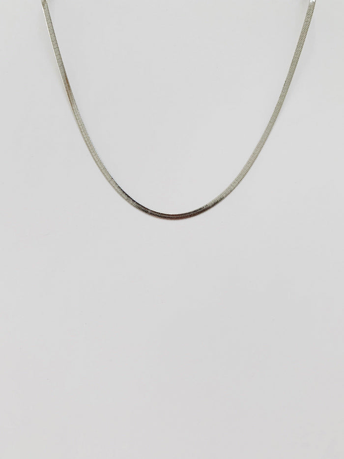 Lind Silver Fine Necklace - Amillis