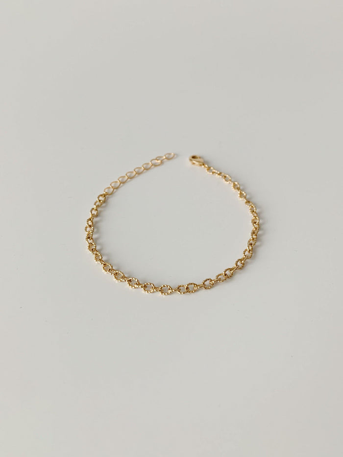 Mix & Match Cable Gold Bracelet - Amillis