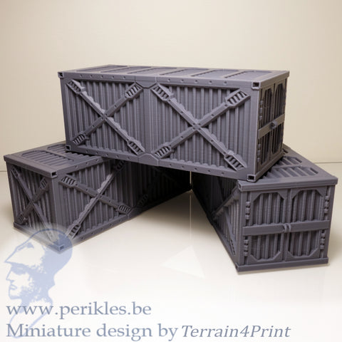 3x SciFi Container Bundle (28mm - 35mm terrain)