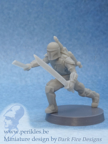 Multipart Melee Crusader (35mm wargaming miniature)