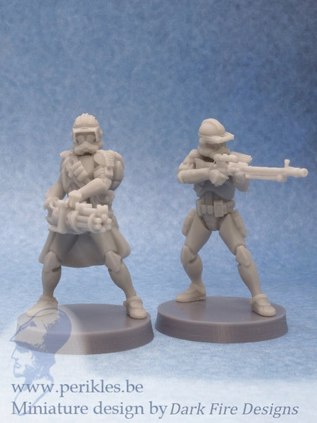 Genetic Battlefront Specialists (2x 35mm wargaming miniatures)