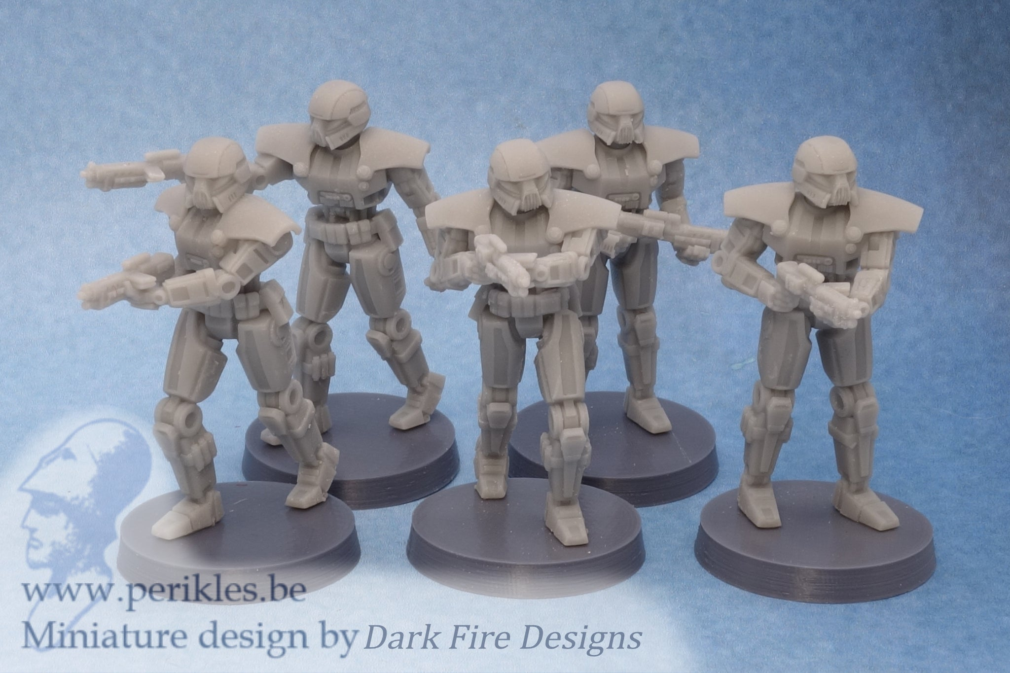 Mech Trooper Squad (35mm wargaming miniatures)