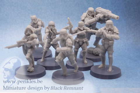 Recon Squad (7 figures) - 35mm Wargaming Miniatures