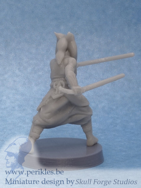Righteous Sage Fighting (35mm wargaming miniature)