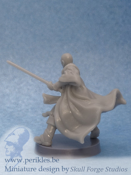 Armored Space Monk General (35mm wargaming miniature)