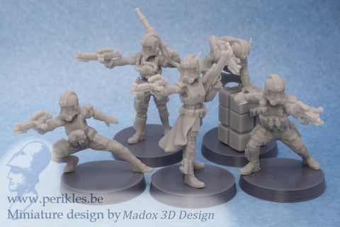 Special Forces (5x 35mm wargaming miniatures)