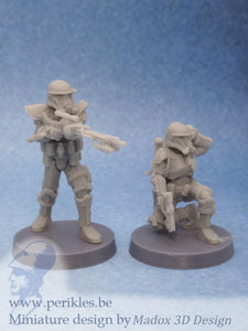 Terror Trooper Specialists (2x 35mm wargaming miniatures)