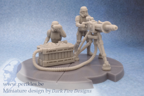 Shadow Trooper Repeater Team (35mm wargaming miniature)