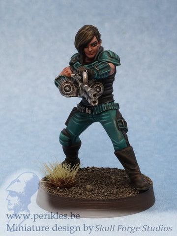 Veteran Mercenary (35mm wargaming miniature)