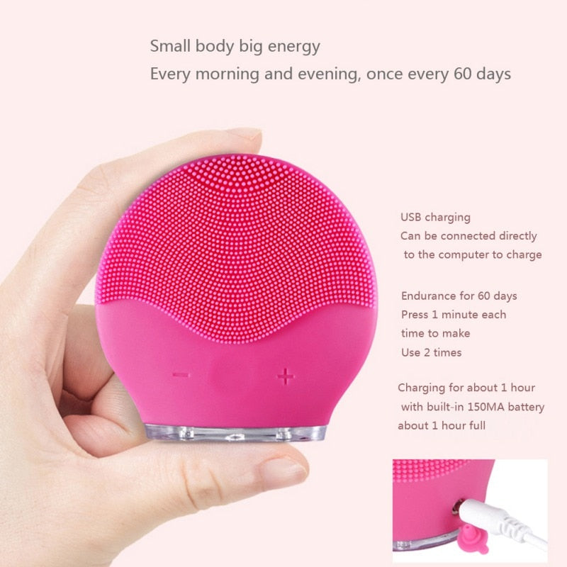 Sonic Silicone Face Cleansing Brush - Fresh Body