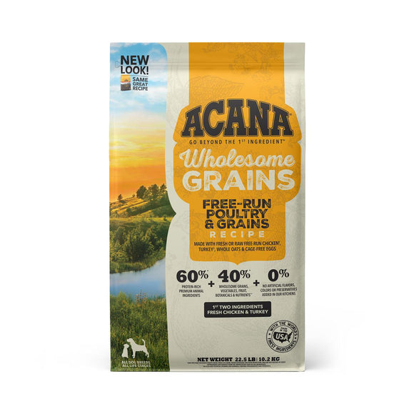 ACANA Wholesome Grains Free-Run Poultry & Grains Dry Dog Food