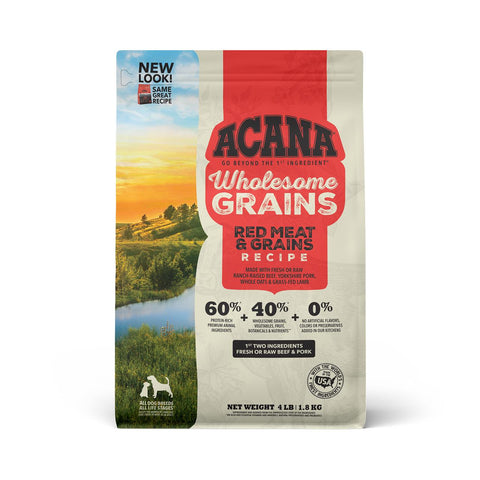 ACANA Wholesome Grains Red Meat & Grains Dry Dog Food