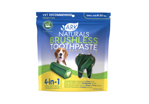 Ark Naturals Breath-Less Brushless Toothpaste Small Dog Chews, 12-oz bag