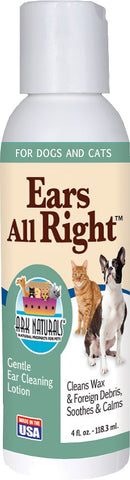 Ark Naturals Ears All Right Dog & Cat Cleaning Lotion, 4-oz bottle