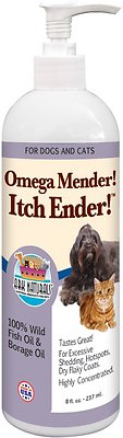 Ark Naturals Omega Mender! Itch Ender! Dog & Cat Liquid Supplement, 8-oz bottle