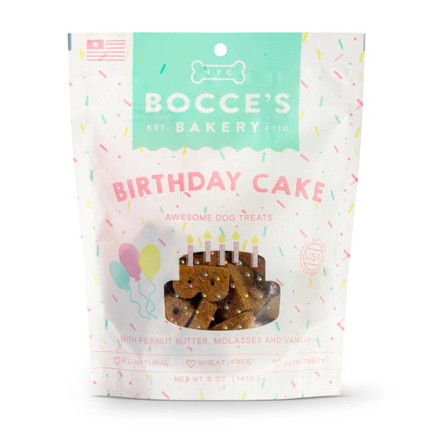 Bocce's Bakery Seasonal Birthday Cake Biscuits 5-oz