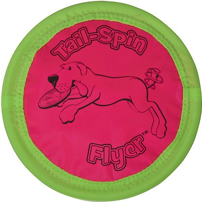 Booda Soft Bite Tail Spin Flyer Floppy Disc Dog Toy, Color Varies, Medium