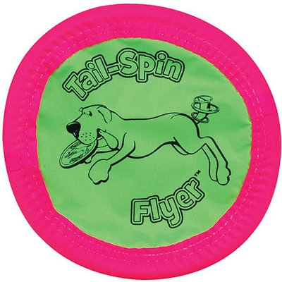 Booda Soft Bite Tail Spin Flyer Floppy Disc Dog Toy, Color Varies, Small