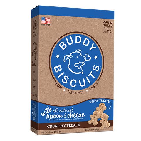 Buddy Biscuits with Bacon & Cheese Oven Baked Teeny Treats, 8-oz box