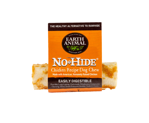 Earth Animal No-Hide Chicken Chew Dog Treat, 4-in