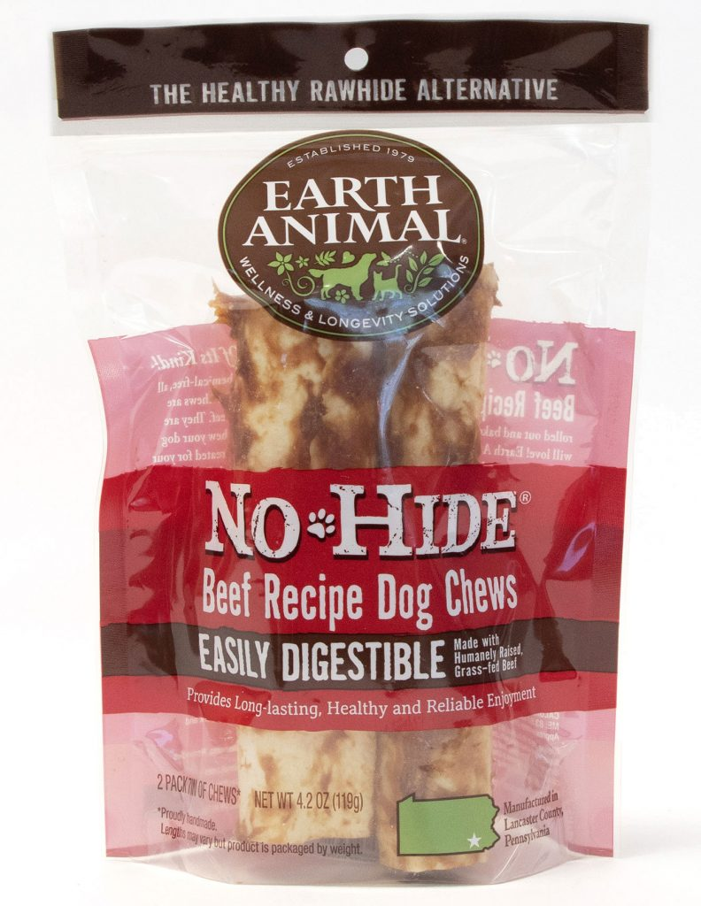 Earth Animal No-Hide Beef Chew Dog Treat, 7-in, 2-pack