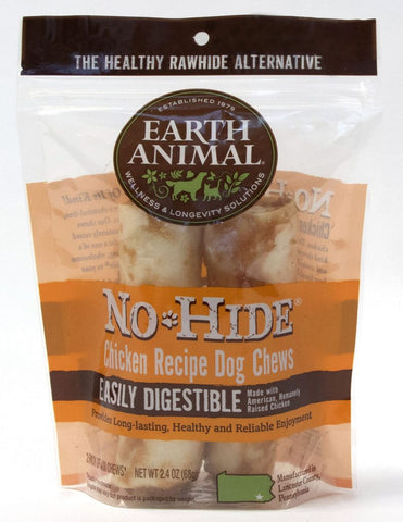 Earth Animal No-Hide Chicken Chew Dog Treat, 4-in, 2-pack