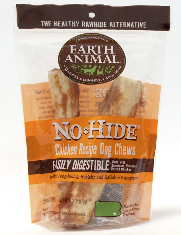 Earth Animal No-Hide Chicken Chew Dog Treat, 7-in, 2-pack