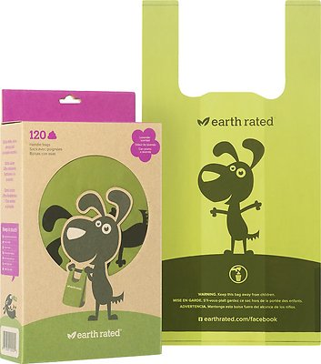 Earth Rated Poop Bags Handle Bags, Scented, 120 count
