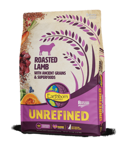 Earthborn Unrefined Dry Dog Food with Ancient Grains & Superfoods, Roasted Lamb