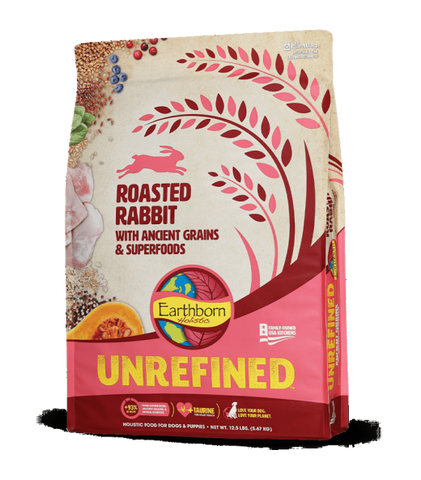 Earthborn Unrefined Dry Dog Food with Ancient Grains & Superfoods, Roasted Rabbit