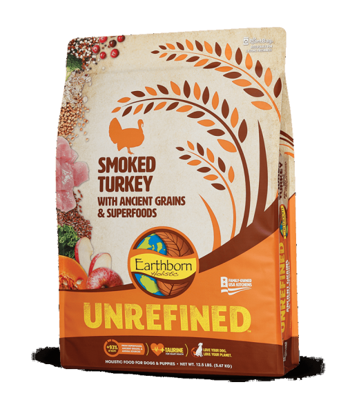 Earthborn Unrefined Dry Dog Food with Ancient Grains & Superfoods, Smoked Turkey